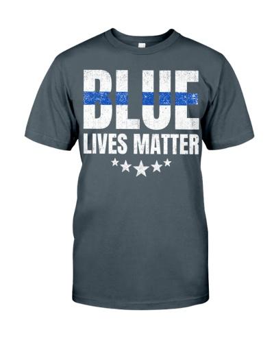 Blue Lives Matter Shirt Vintage Pattern
