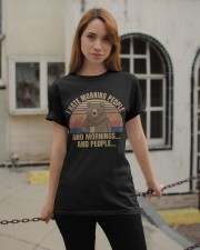 I Hate Morning People And Mornings And People bear Classic T-Shirt apparel-classic-tshirt-lifestyle-19
