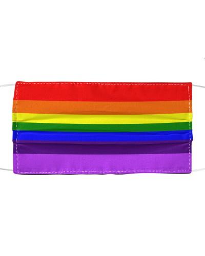 rainbow flag face mask