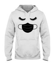eyelashes with facemask shirt Hooded Sweatshirt thumbnail