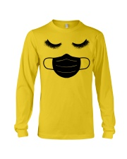 eyelashes with facemask shirt Long Sleeve Tee thumbnail
