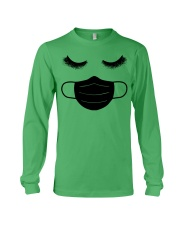 eyelashes with facemask shirt Long Sleeve Tee front
