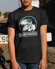 Grandpasaurus Grandpa Birthday Dinosaur Lover Gift Classic T-Shirt apparel-classic-tshirt-lifestyle-29