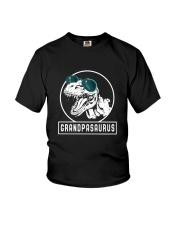 Grandpasaurus Grandpa Birthday Dinosaur Lover Gift Youth T-Shirt thumbnail