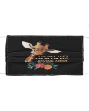 Giraffe lover gift with funny Quote I'm not Lazy Cloth face mask thumbnail