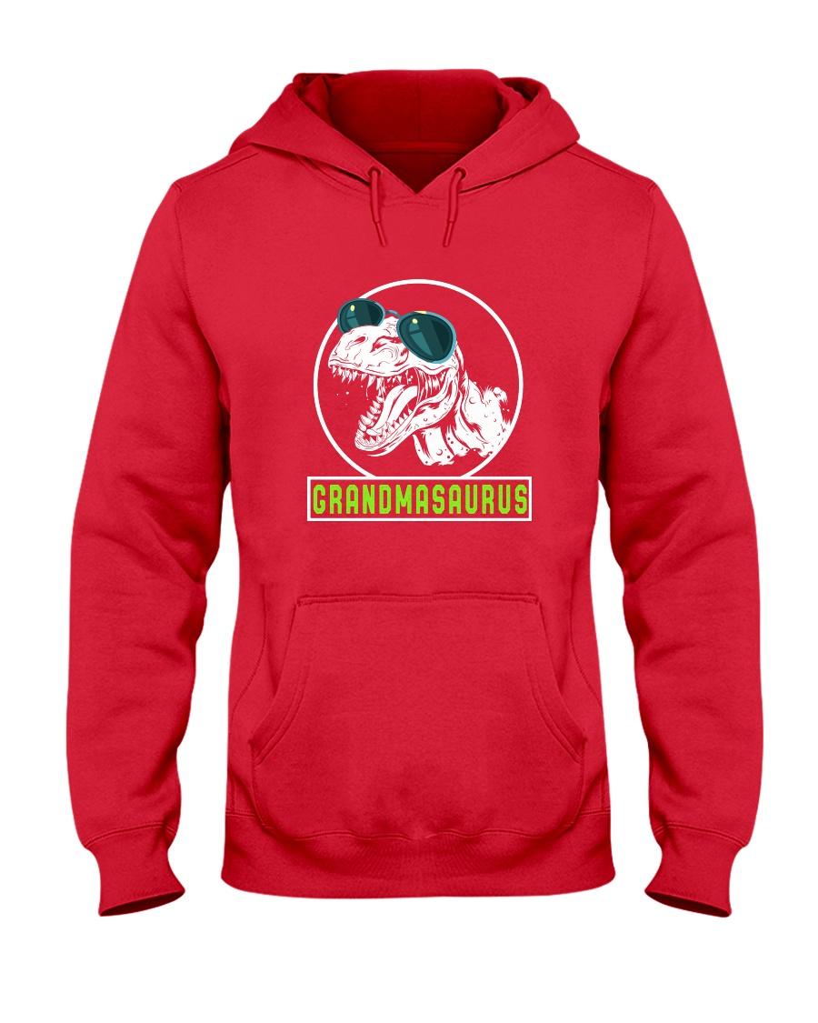 Grandmasaurus Grandma Birthday Dinosaur Lover Gift Hooded Sweatshirt