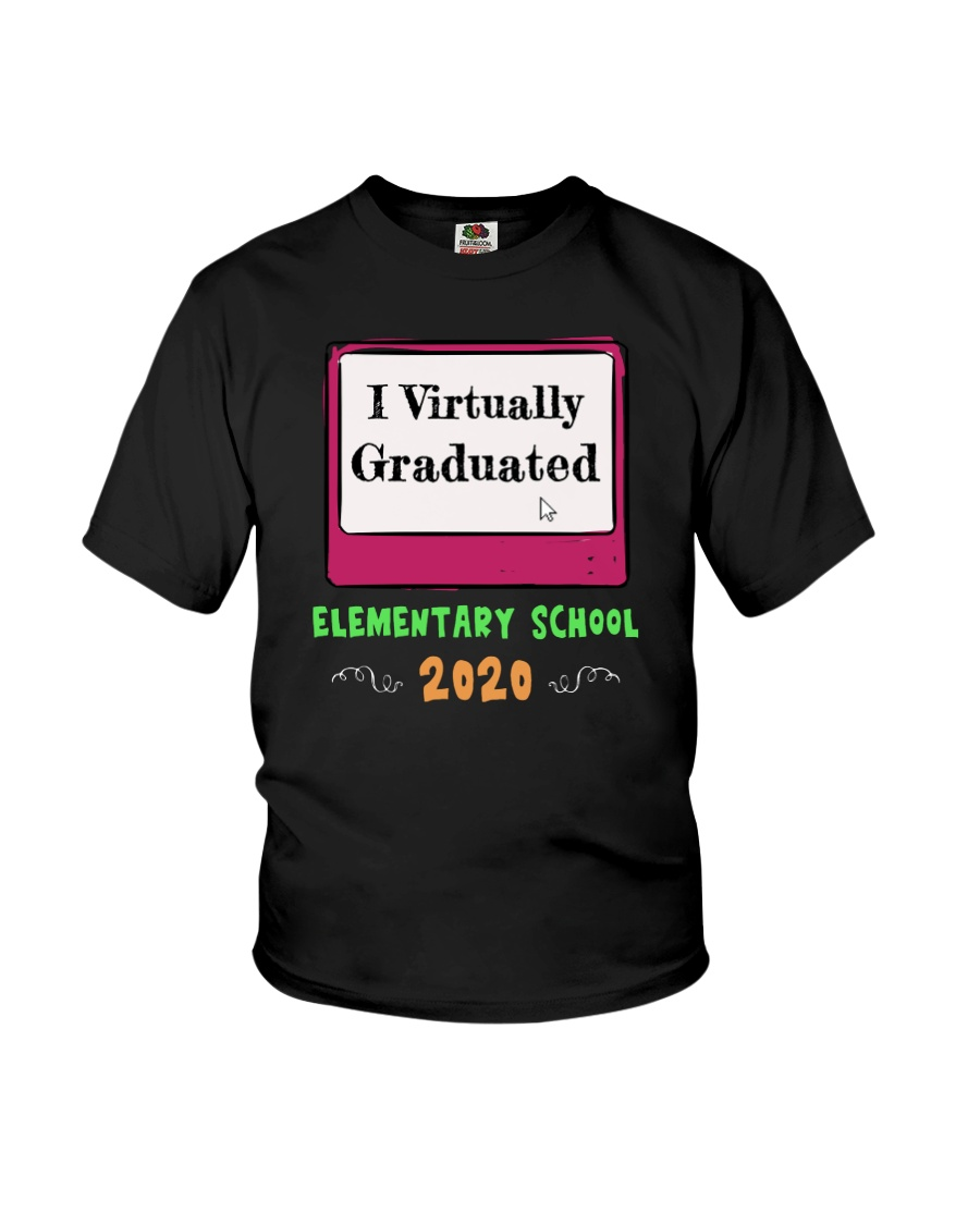 I Virtually Graduated Elementary School Funny Tee Youth T-Shirt