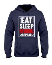 Eat Sleep Play Basketball Repeat Shirt Hooded Sweatshirt front