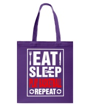 Eat Sleep Play Basketball Repeat Shirt Tote Bag thumbnail