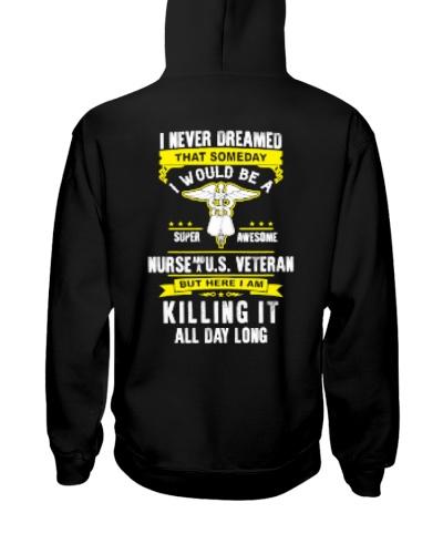 Nurse And US Veteran - Nursing Shirts