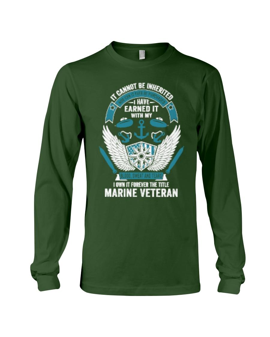 Marine Veteran T Shirts Long Sleeve Tee