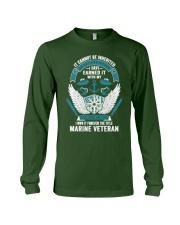 Marine Veteran T Shirts Long Sleeve Tee front