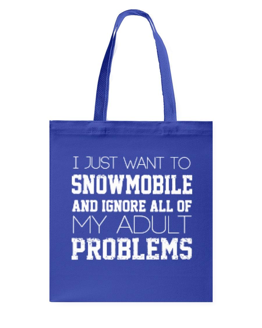 Funny Snowmobile Sweatshirt Tote Bag
