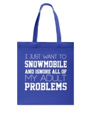 Funny Snowmobile Sweatshirt Tote Bag front
