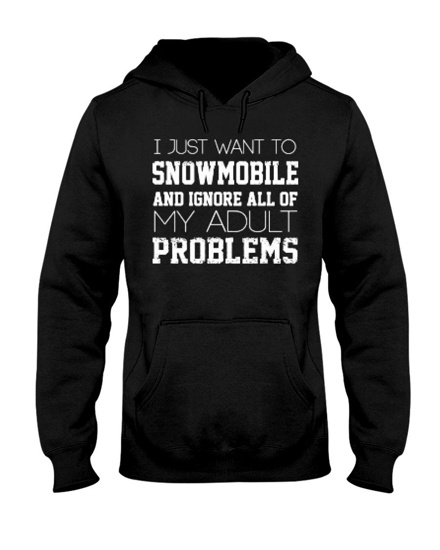 Funny Snowmobile Sweatshirt Hooded Sweatshirt