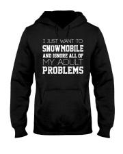 Funny Snowmobile Sweatshirt Hooded Sweatshirt front