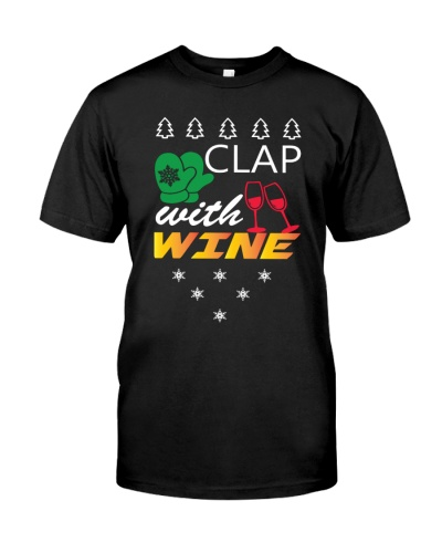 Christmas Clap With Wine