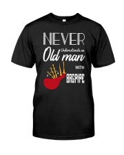 Old Man Bagpiper Classic T-Shirt tile