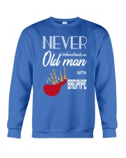 Old Man Bagpiper Crewneck Sweatshirt thumbnail