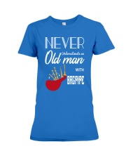 Old Man Bagpiper Premium Fit Ladies Tee thumbnail