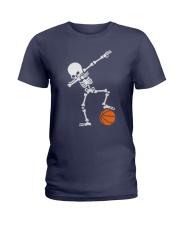 Skeleton Football Basketball Hoodie Ladies T-Shirt thumbnail