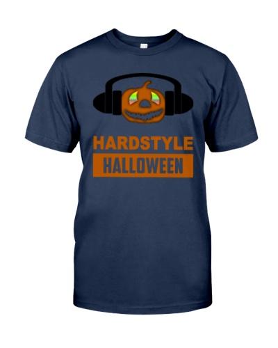 Hardstyle Halloween Party Pumpkin Music T-Shirt