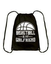 Basketball Is My Girlfriend Hoodie Drawstring Bag thumbnail