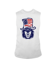 Lion Hat American Flag Hoodie Sleeveless Tee thumbnail
