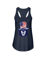 Lion Hat American Flag Hoodie Ladies Flowy Tank thumbnail