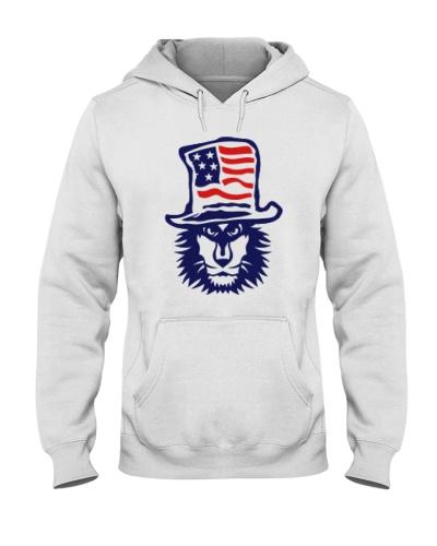 Lion Hat American Flag Hoodie