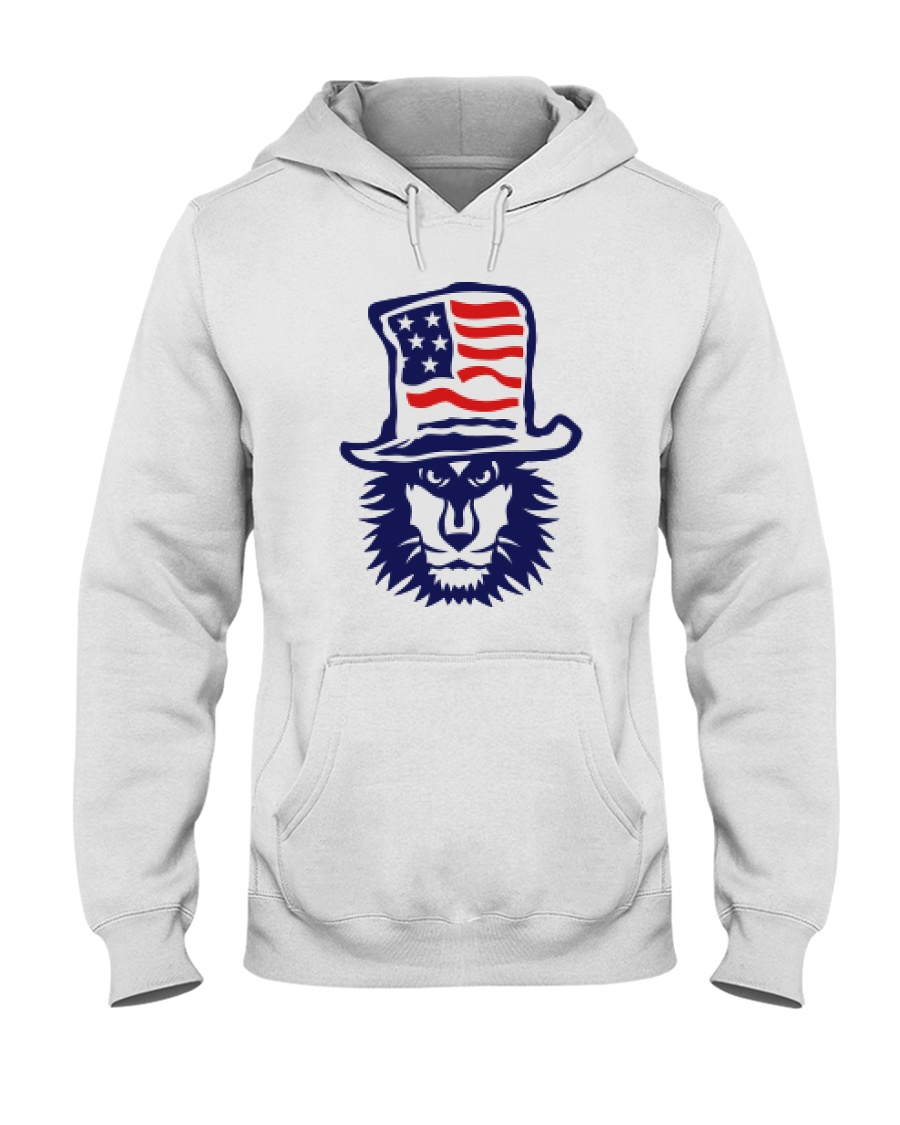 Lion Hat American Flag Hoodie Hooded Sweatshirt