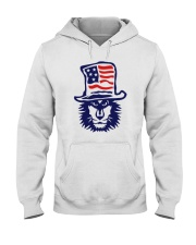 Lion Hat American Flag Hoodie Hooded Sweatshirt front