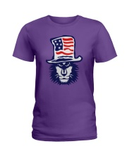 Lion Hat American Flag Hoodie Ladies T-Shirt thumbnail