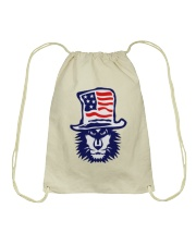 Lion Hat American Flag Hoodie Drawstring Bag thumbnail