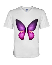 Colorful Butterfuly V-Neck T-Shirt thumbnail