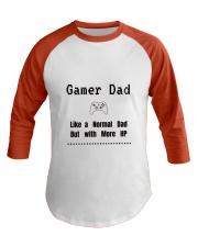 Gamer Dad Baseball Tee front