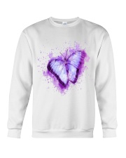 Purple Butterfuly Crewneck Sweatshirt thumbnail