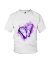 Purple Butterfuly Youth T-Shirt thumbnail