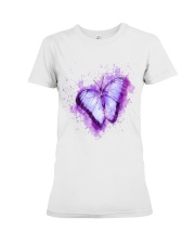 Purple Butterfuly Premium Fit Ladies Tee thumbnail