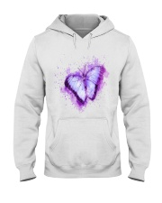 Purple Butterfuly Hooded Sweatshirt thumbnail