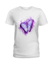 Purple Butterfuly Ladies T-Shirt thumbnail