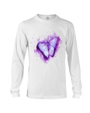 Purple Butterfuly Long Sleeve Tee thumbnail