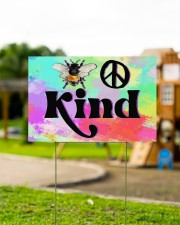Bee Kind  18x12 Yard Sign aos-yard-sign-18x12-lifestyle-front-12