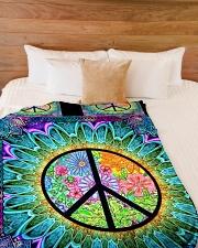 "Hippie Large Fleece Blanket - 60"" x 80"" aos-coral-fleece-blanket-60x80-lifestyle-front-02"
