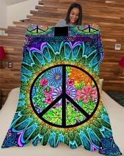 "Hippie Large Fleece Blanket - 60"" x 80"" aos-coral-fleece-blanket-60x80-lifestyle-front-04"