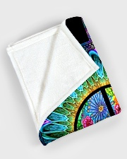 "Hippie Large Fleece Blanket - 60"" x 80"" aos-coral-fleece-blanket-60x80-lifestyle-front-08"