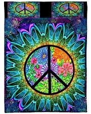 """Hippie Large Fleece Blanket - 60"""" x 80"""" front"""
