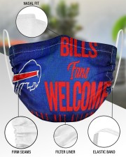 Bills fans welcome others not allowed 2 Layer Face Mask - Single aos-face-mask-2-layers-lifestyle-front-51