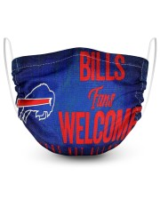 Bills fans welcome others not allowed 2 Layer Face Mask - Single front