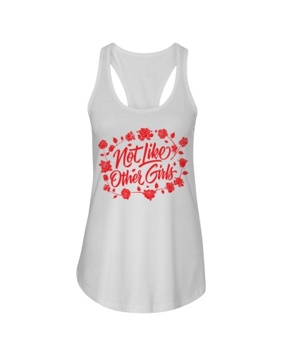 Not Like Other Girls Tank and Tee Ladies Flowy Tan